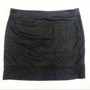 Rock and Republic Black Stretch Mini Skirt Size L